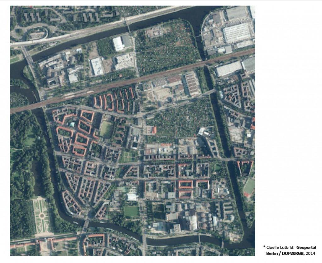 Untersuchungsgebiet Insellage, Mierendorff-Kiez Berlin  Quelle: http://nmi-2030.berlin/wp-content/uploads/2014/07/Die_nachhaltige_Mierendorff-Insel_2030.pdf, Zugriff am 16.02.16