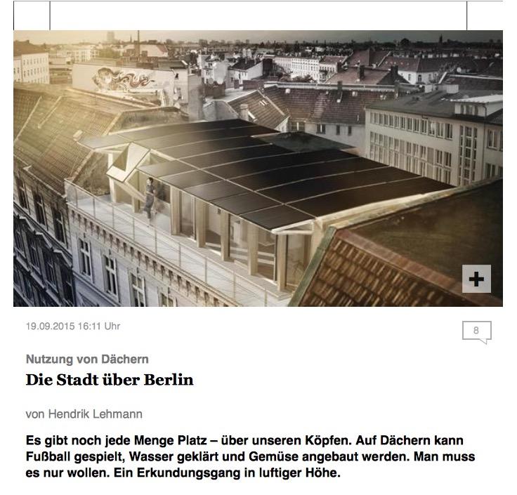 RWF-Pressespiegel: Tagesspiegel-Beitrag vom 19.09.2015: ,,Die Stadt über Berlin