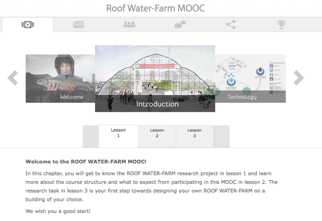 Der ROOF WATER_FARM MOOC auf moin. (c) ROOF WATER-FARM, Grafik: TUB-ISR