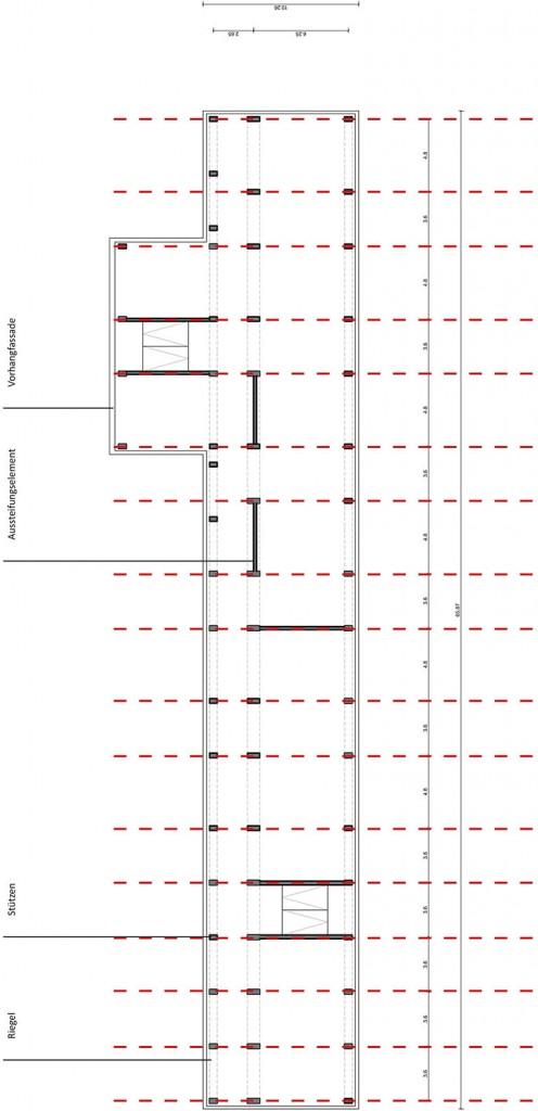 Prinzipgrundriss Grundschule an der Mühle, Berlin-Marzahn. (c) ROOF WATER-FARM, Grafik: Architekturbüro Freiwald
