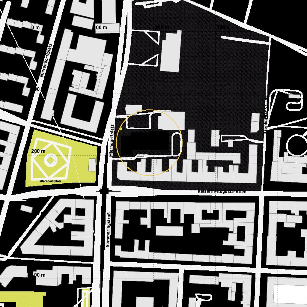 Lage im Stadtraum (c) ROOF WATER-FARM, Grafik: Jürgen Höfler