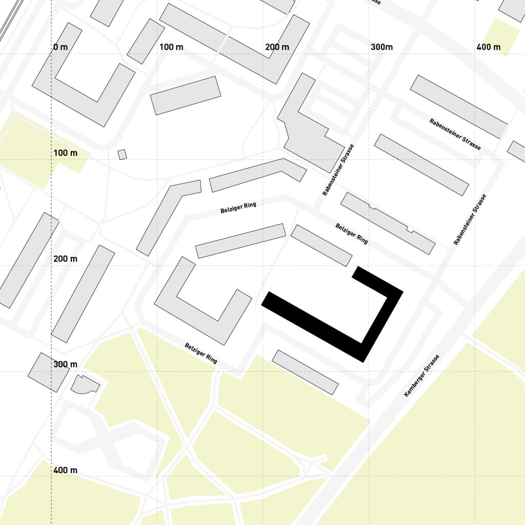 Lage im Stadtraum. Grafik: Jürgen Höfner