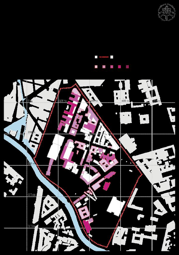 Dachflächenpotentiale im Untersuchungsgebiets, (c) RWf
