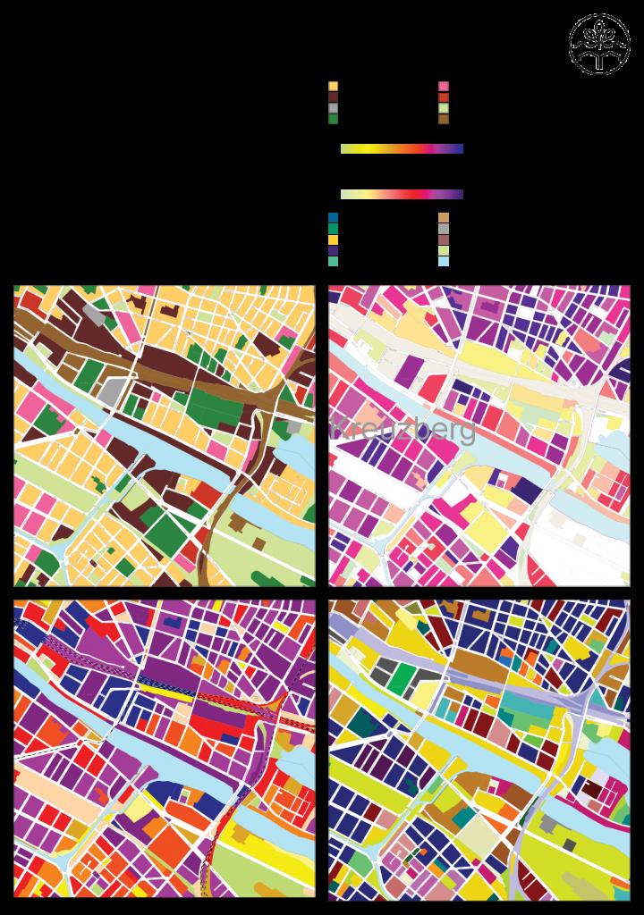 Baustrukturen im Untersuchungsgebiets. Quelle: Geoportal Berlin, FiS-Broker: http://fbinter.stadt-berlin.de/fb/index.jsp, Senatsverwaltung für Stadtentwicklung und Umwelt. Letzter Zugriff: 16.04.2015