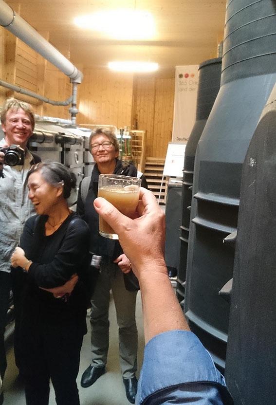 Schwarzwasseraufbereitung zur Herstellung von NPK-Flüssigdünger im RWF-Wasserhaus. (c) ROOF WATER-FARM, Foto: Grit Bürgow