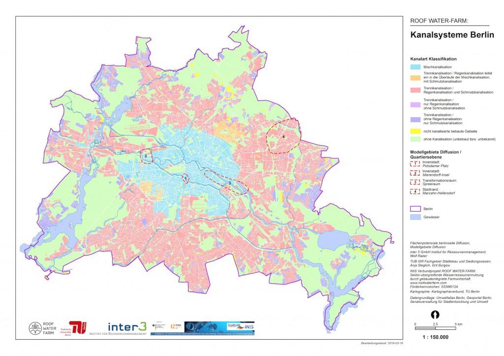 Kanalsystem der Stadt Berlin unter Innovationsdruck, Mischwasserkanalisation und Regenwasserkanalisation (c) RWF