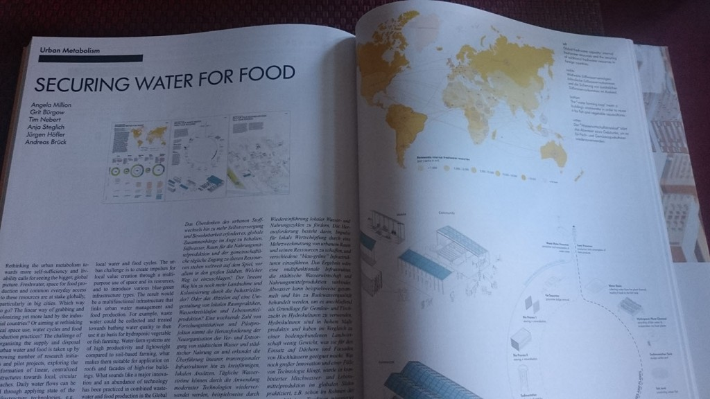 Wettbewerbsbeitrag SECURING WATER FOR FOOD. In: arch+ 223/ PLANETARY URBANISM/ 172-173